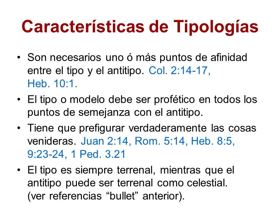 Características de Tipologías