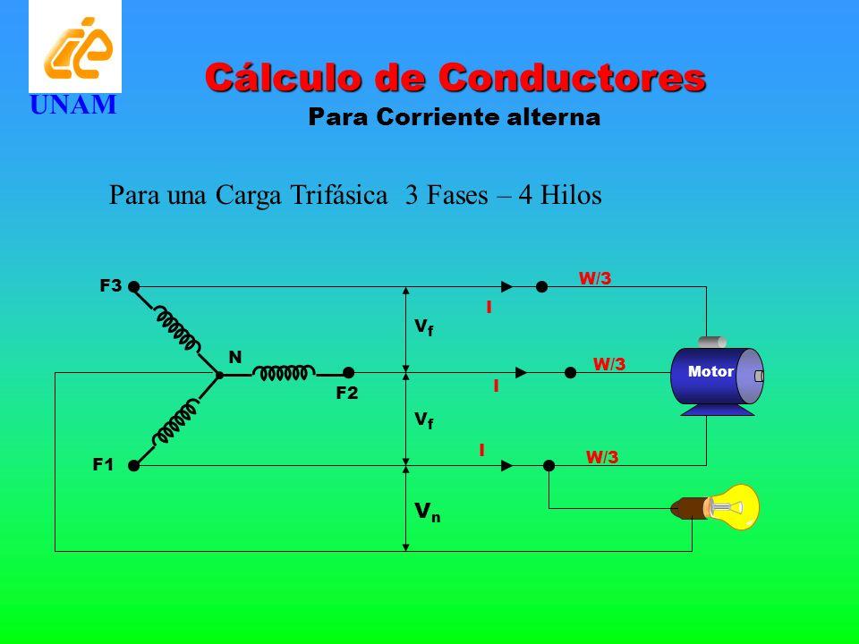 Cálculo de Conductores Para Corriente alterna