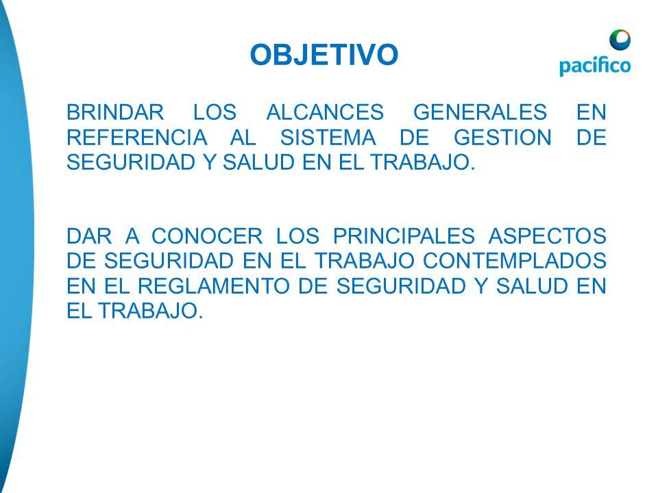 OBJETIVOBRINDAR LOS ALCANCES GENERALES EN REFERENCIA AL SISTEMA DE GESTION DE SEGURIDAD Y SALUD EN EL TRABAJO.