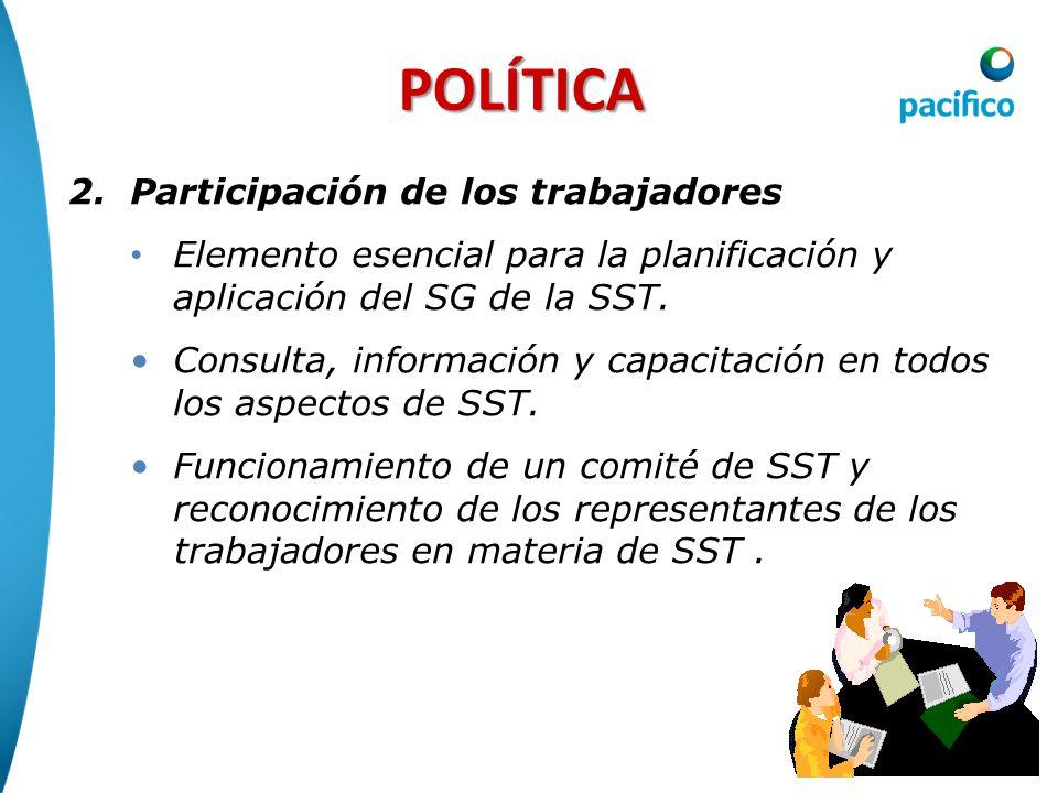 POLÍTICA Participación de los trabajadores