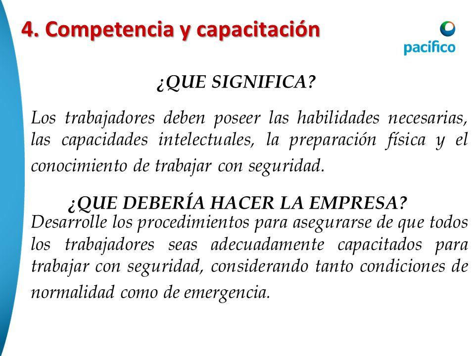 4. Competencia y capacitación