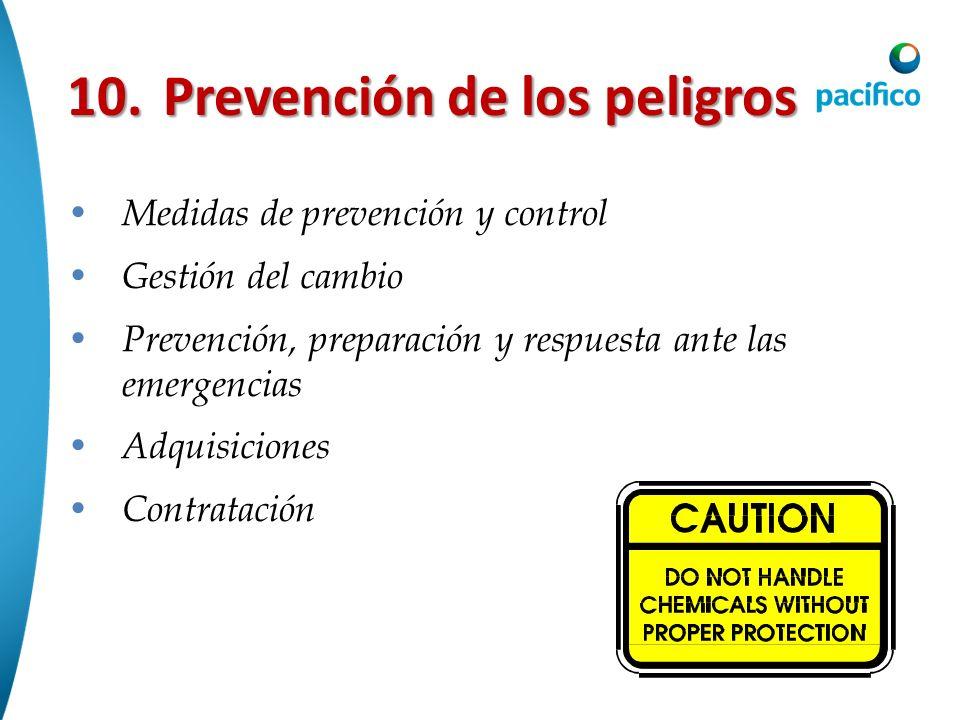 10. Prevención de los peligros