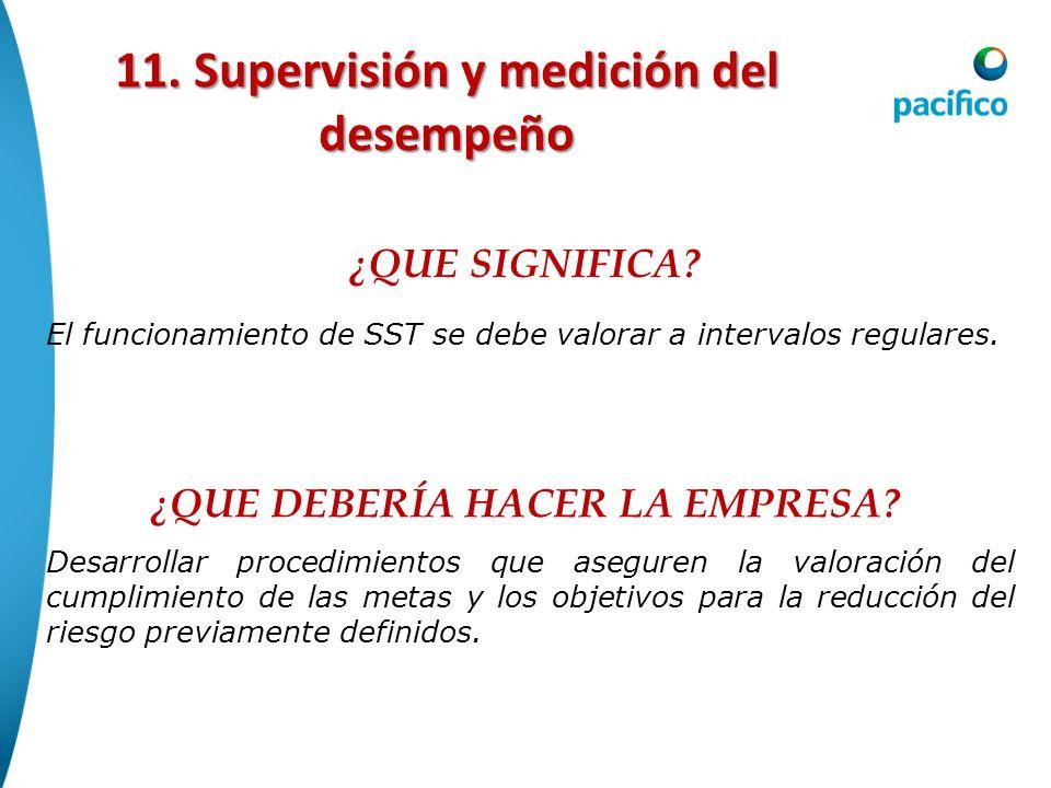 11. Supervisión y medición del desempeño