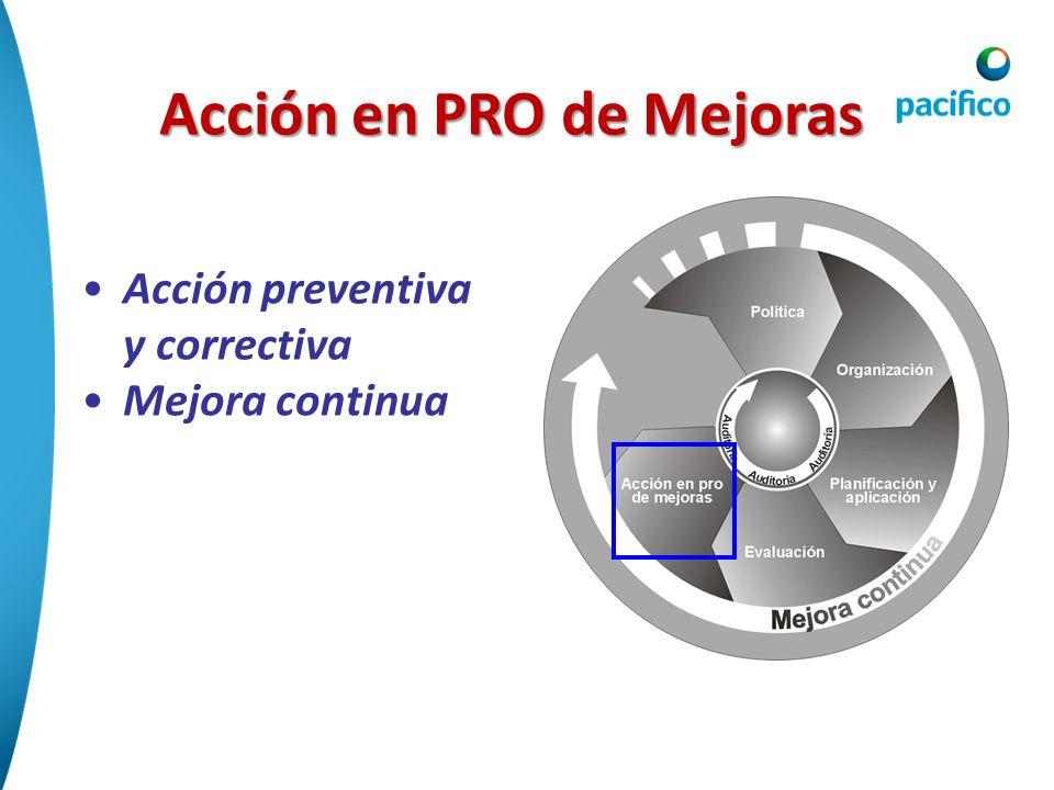 Acción en PRO de Mejoras