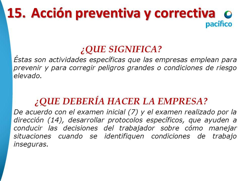 15. Acción preventiva y correctiva