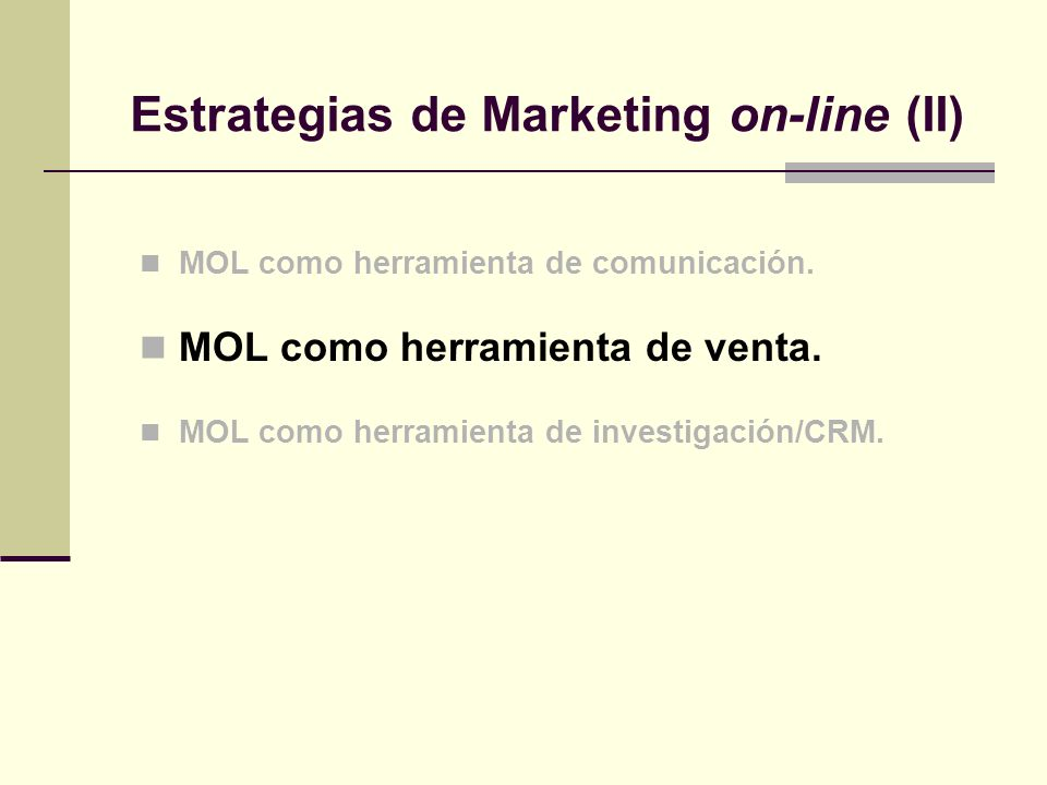 Estrategias de Marketing on-line (II)