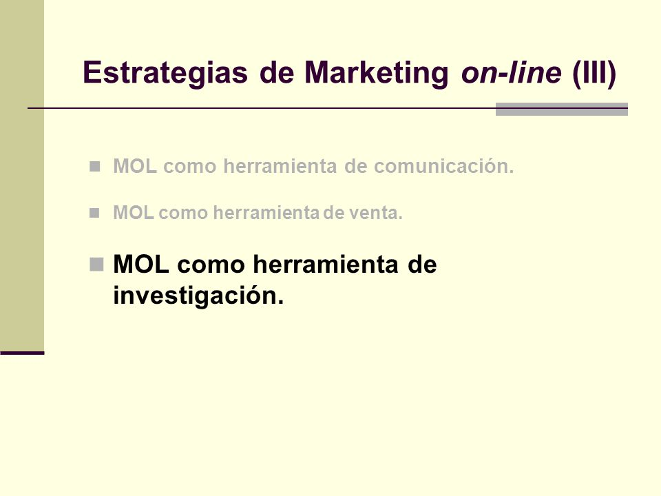 Estrategias de Marketing on-line (III)