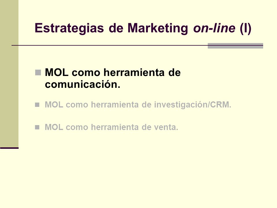 Estrategias de Marketing on-line (I)