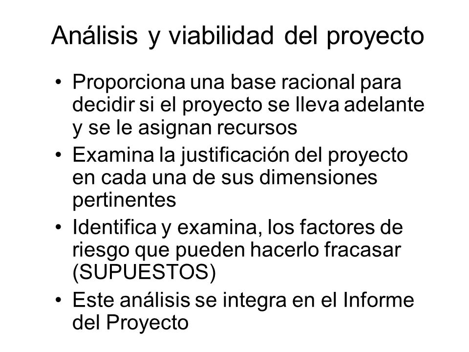 Análisis y viabilidad del proyecto