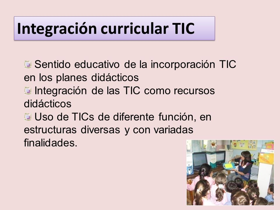 Integración curricular TIC