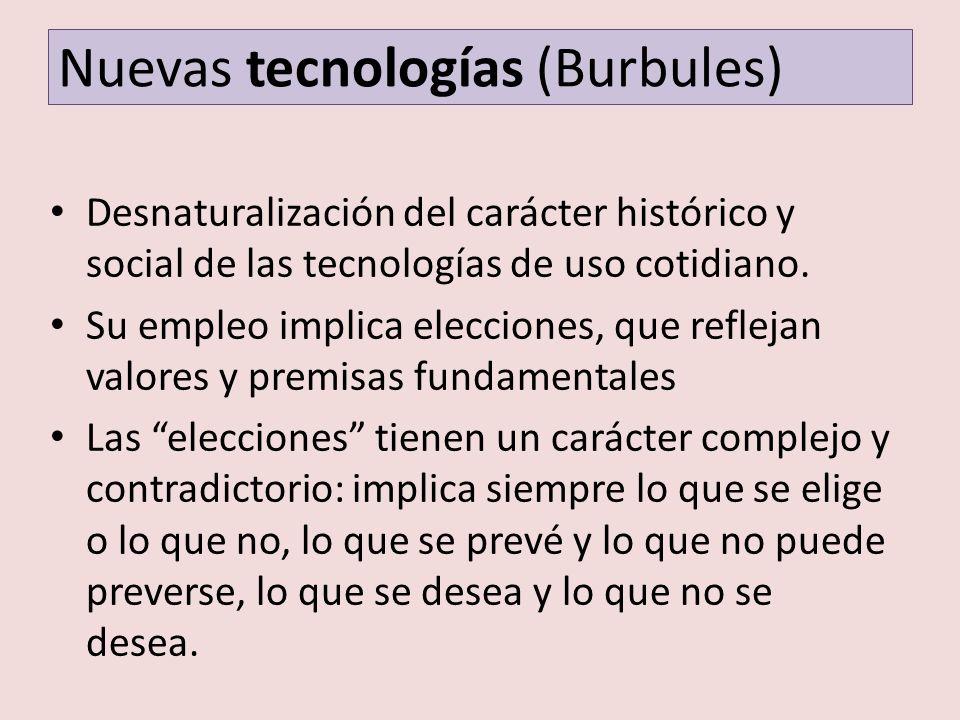 Nuevas tecnologías (Burbules)