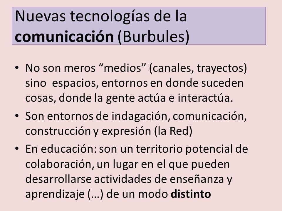 Nuevas tecnologías de la comunicación (Burbules)