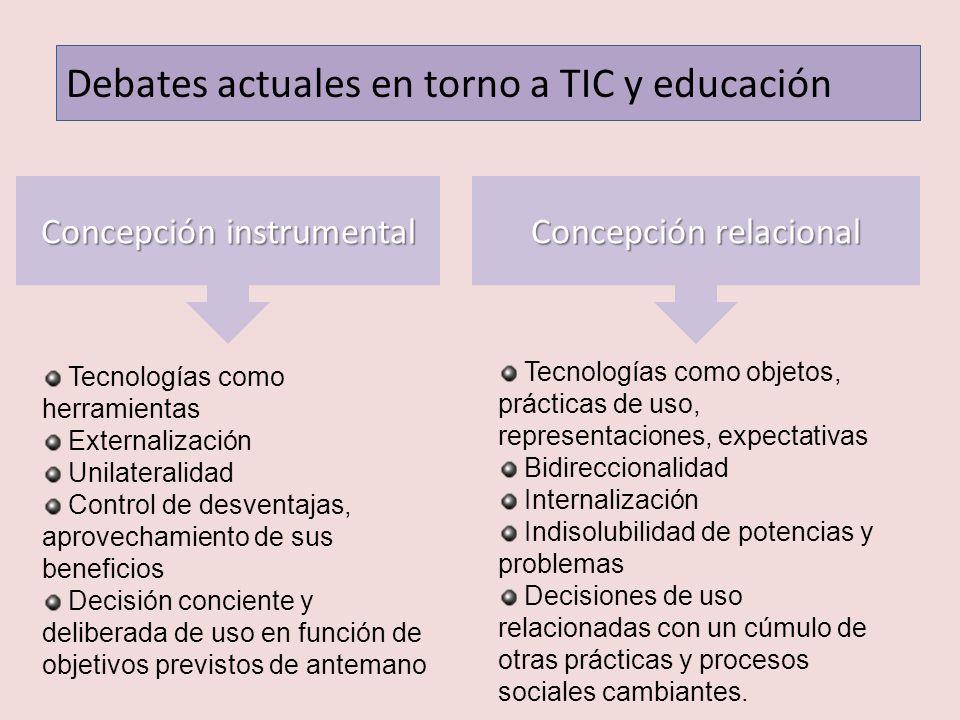Debates actuales en torno a TIC y educación