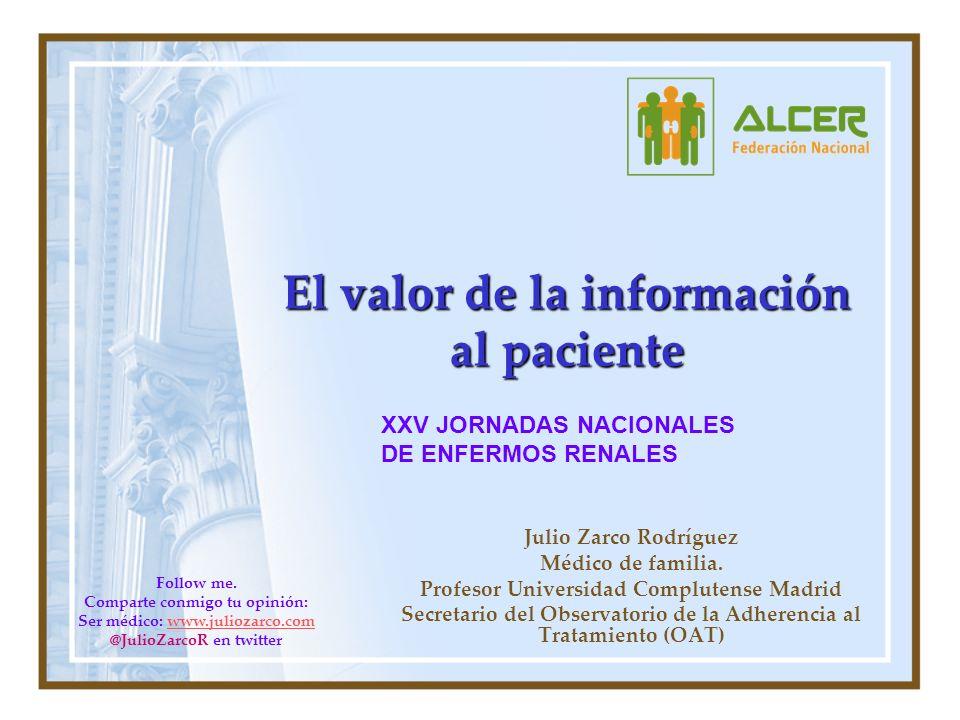 El valor de la información al paciente