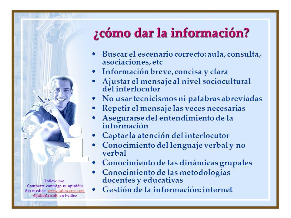 ¿cómo dar la información