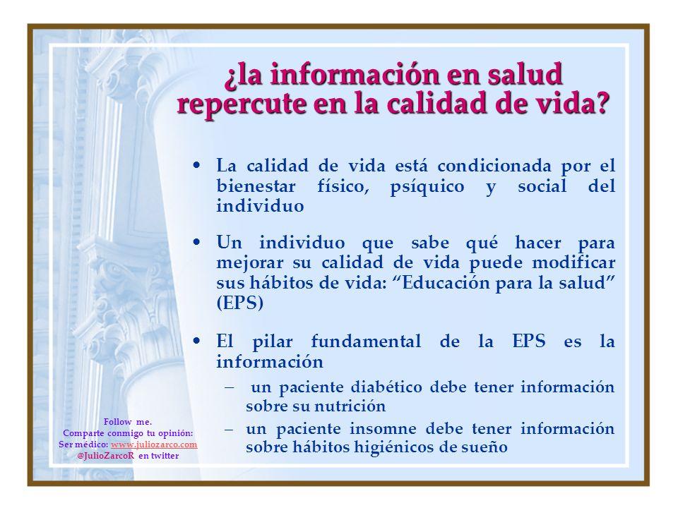 ¿la información en salud repercute en la calidad de vida