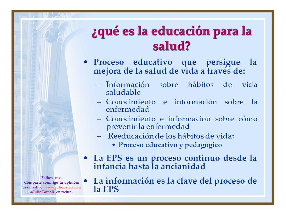 ¿qué es la educación para la salud