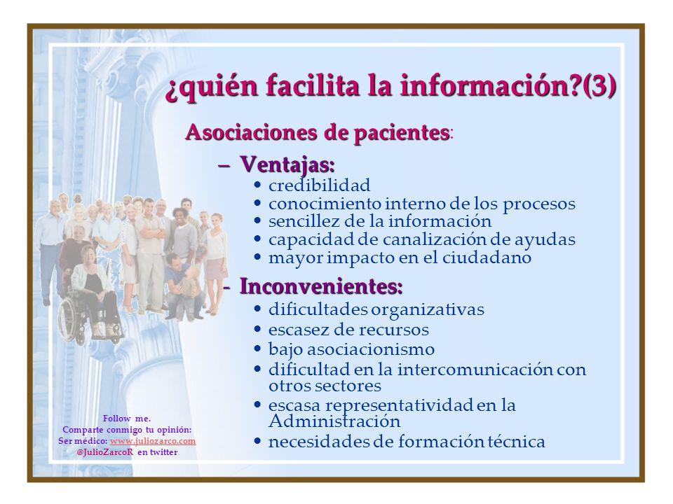 ¿quién facilita la información (3)
