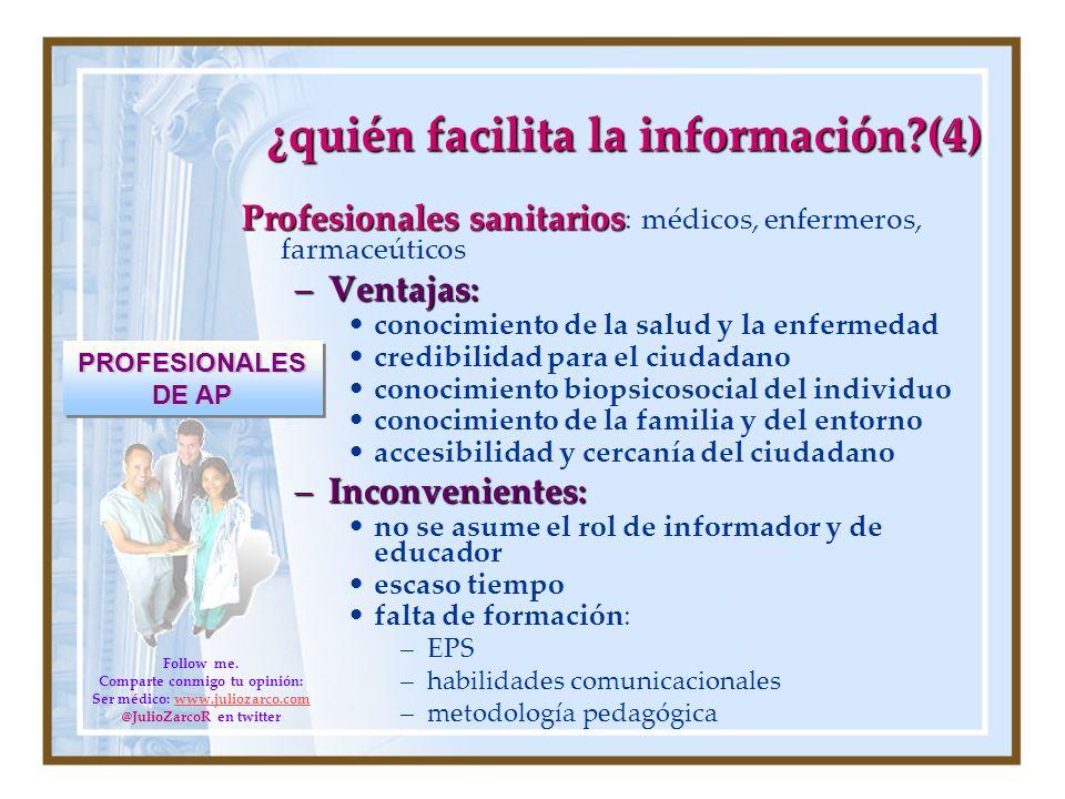 ¿quién facilita la información (4)