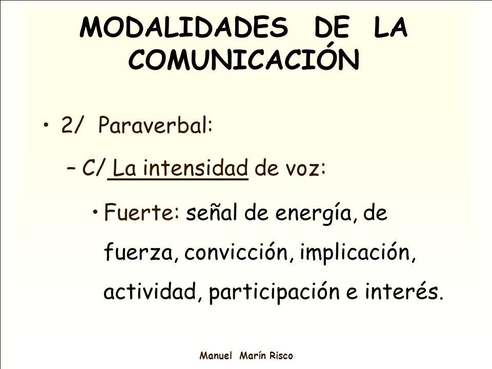 MODALIDADES DE LA COMUNICACIÓN