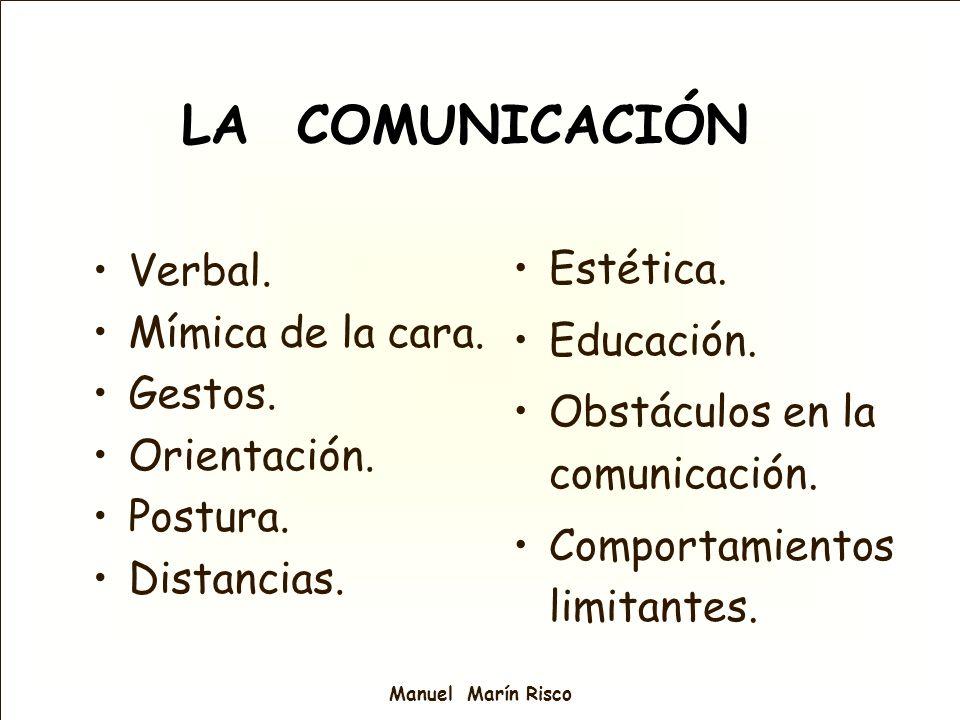 LA COMUNICACIÓN Estética. Verbal. Mímica de la cara. Educación.