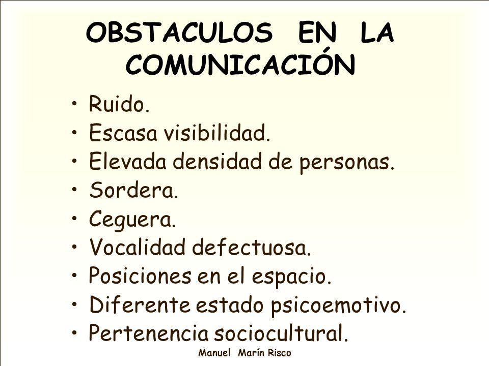 OBSTACULOS EN LA COMUNICACIÓN