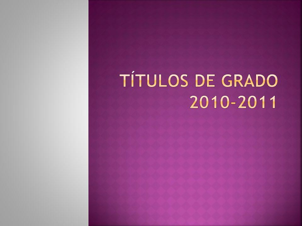 TÍTULOS DE GRADO 2010-2011
