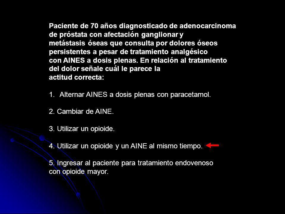 Paciente de 70 años diagnosticado de adenocarcinoma