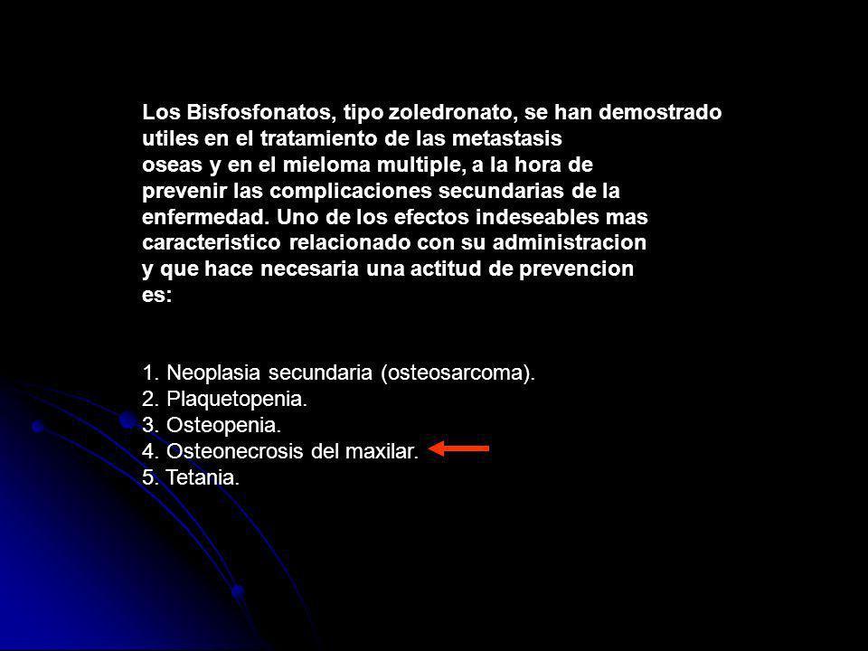 Los Bisfosfonatos, tipo zoledronato, se han demostrado