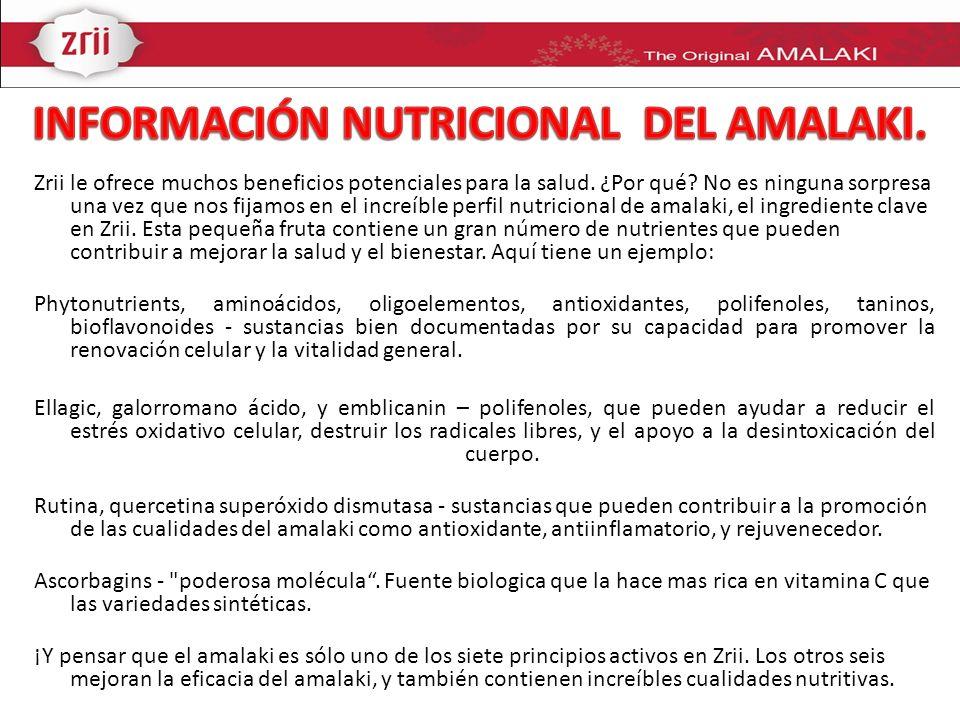 INFORMACIÓN NUTRICIONAL DEL AMALAKI.