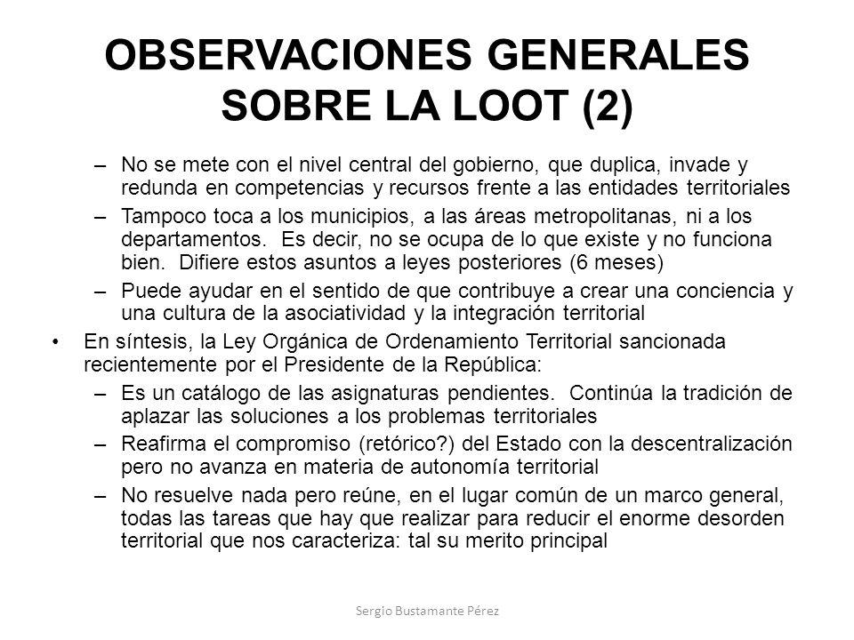 OBSERVACIONES GENERALES SOBRE LA LOOT (2)