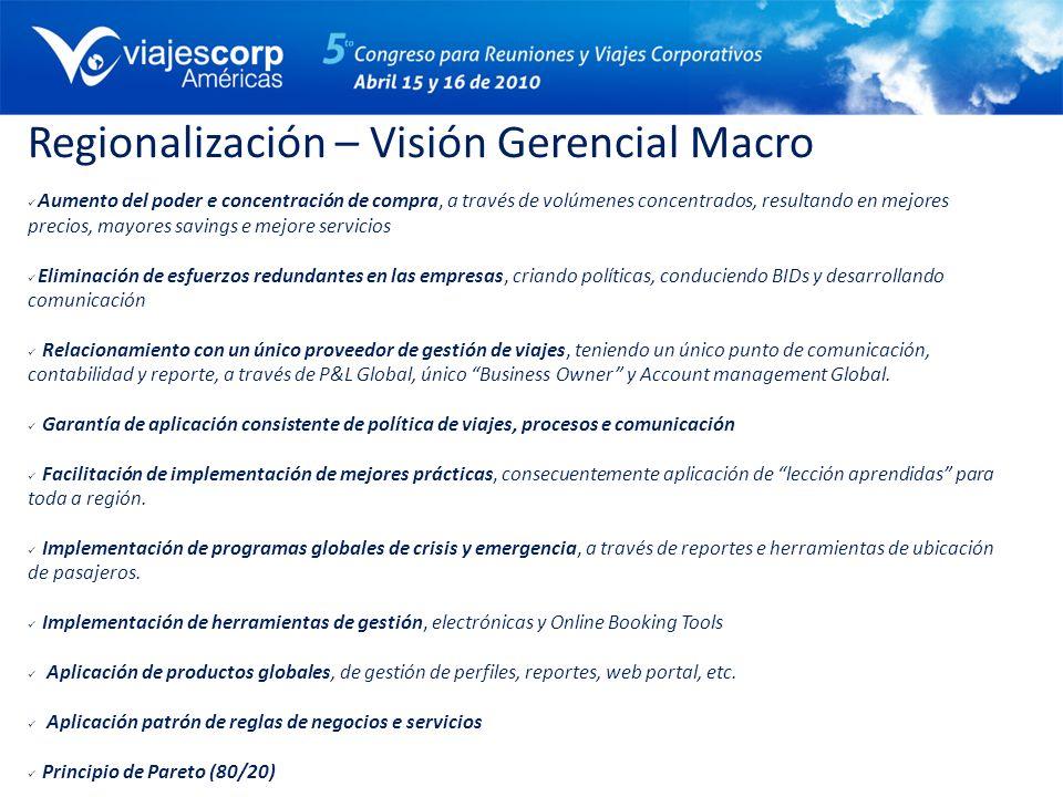 Regionalización – Visión Gerencial Macro