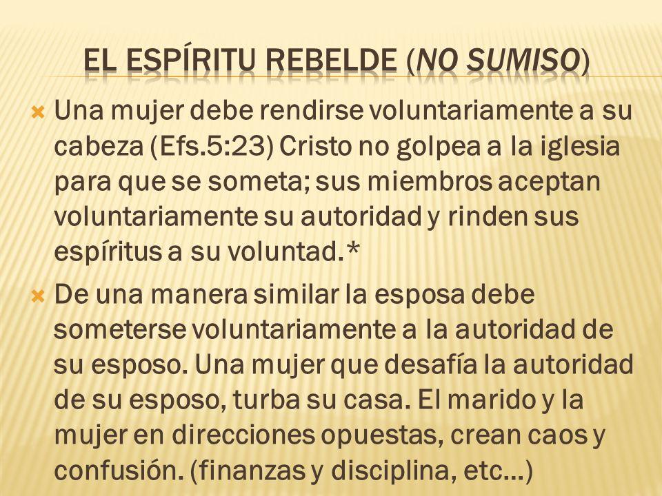 El espíritu rebelde (no sumiso)