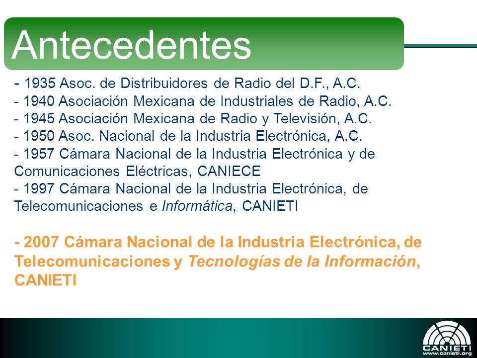 Antecedentes 1935 Asoc. de Distribuidores de Radio del D.F., A.C.
