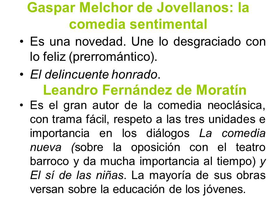 Gaspar Melchor de Jovellanos: la comedia sentimental