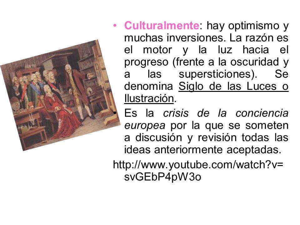 Culturalmente: hay optimismo y muchas inversiones