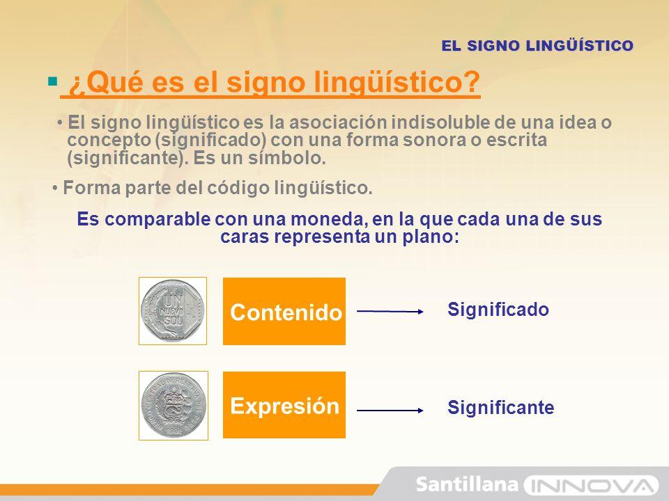¿Qué es el signo lingüístico