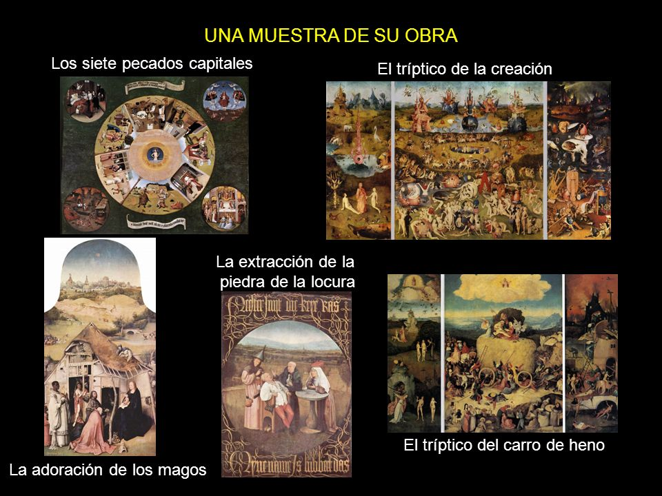 UNA MUESTRA DE SU OBRA Los siete pecados capitales