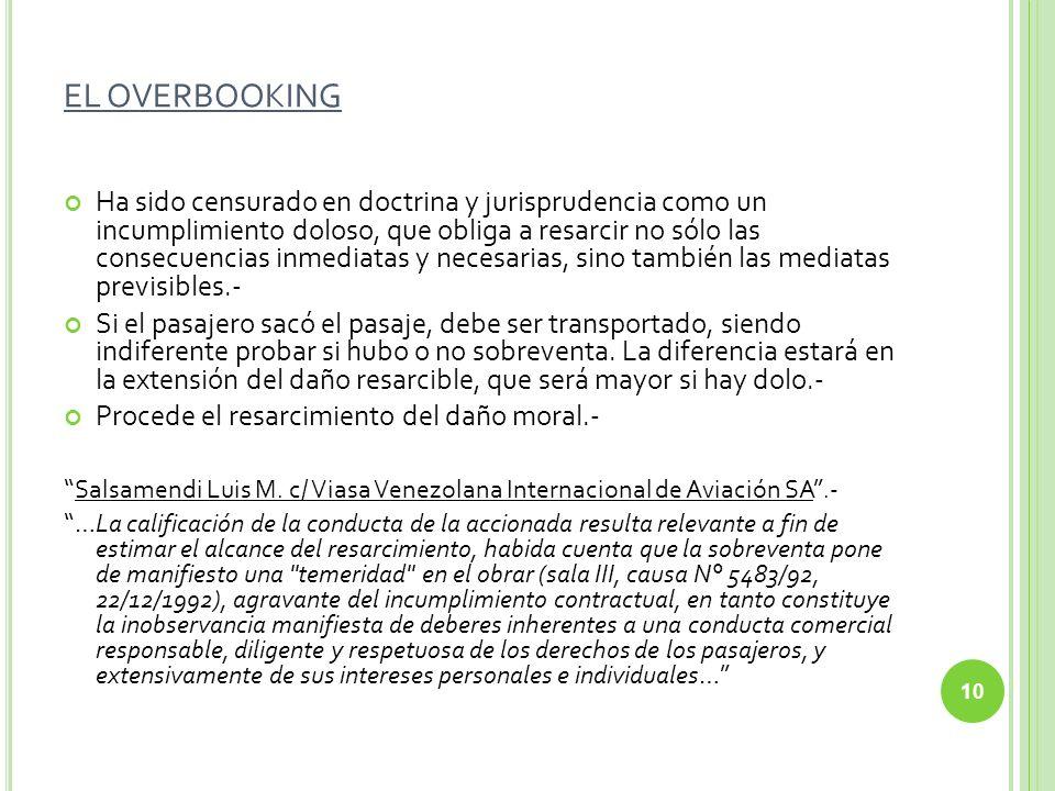 EL OVERBOOKING