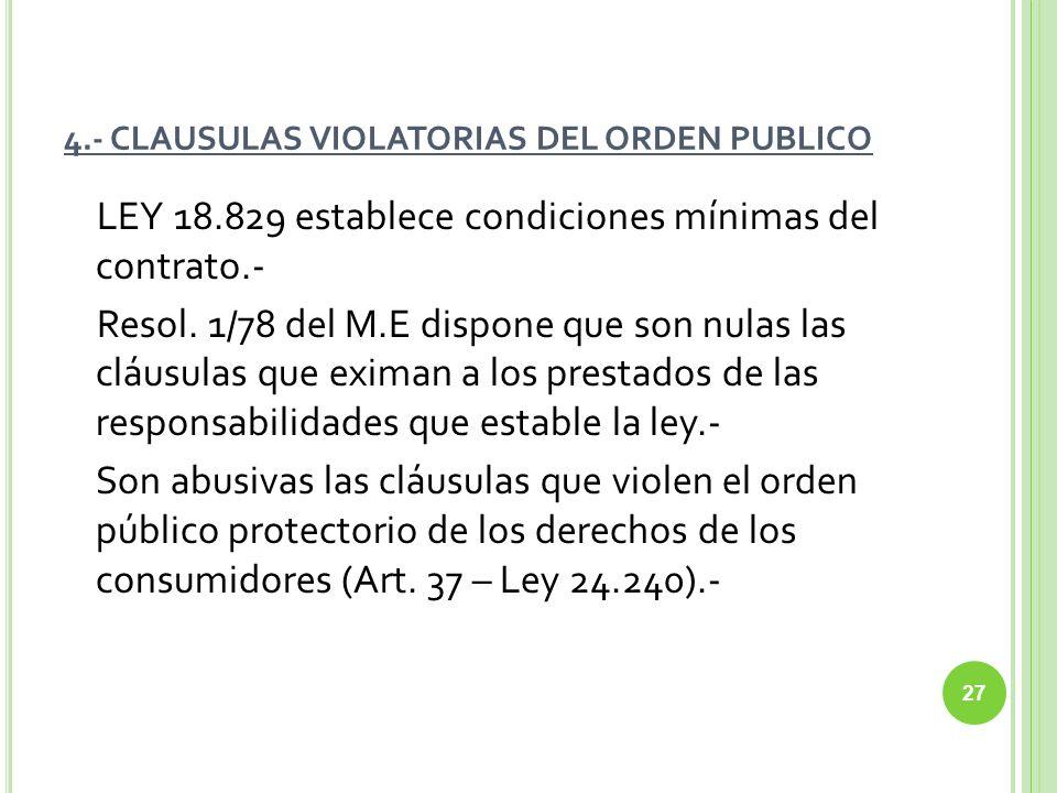 4.- CLAUSULAS VIOLATORIAS DEL ORDEN PUBLICO