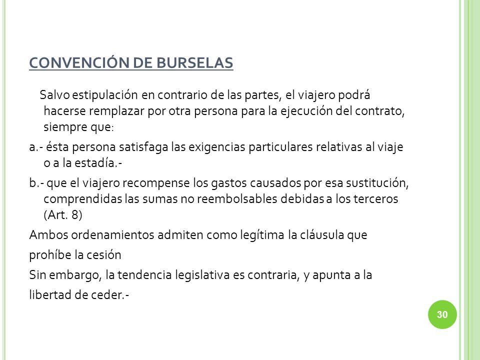 CONVENCIÓN DE BURSELAS