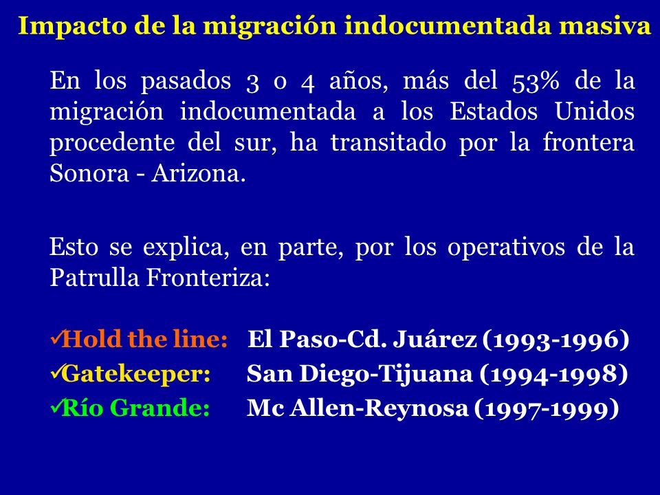 Impacto de la migración indocumentada masiva