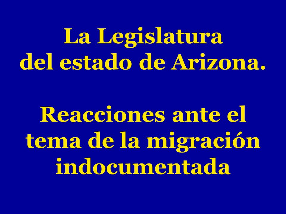 La Legislatura del estado de Arizona