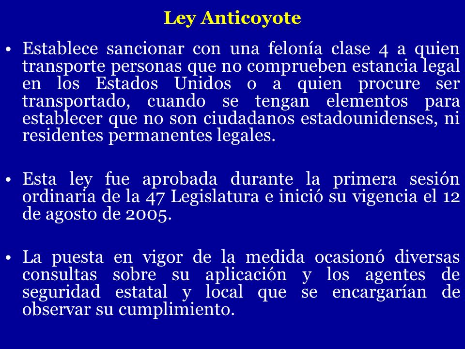 Ley Anticoyote