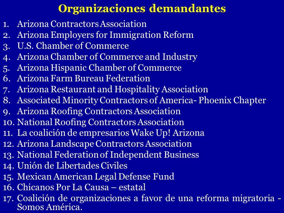 Organizaciones demandantes