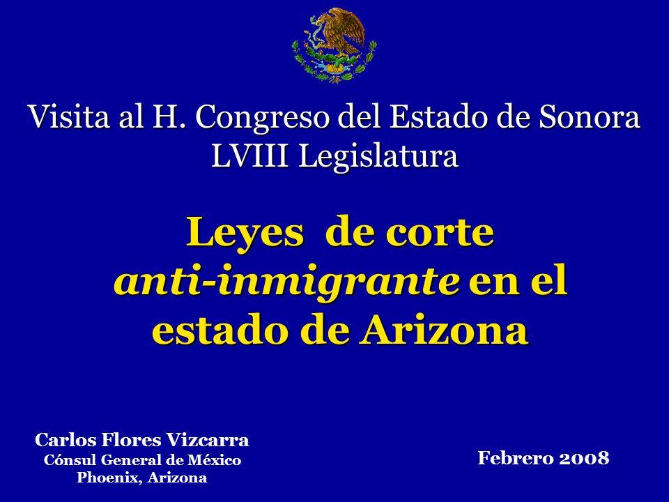 Carlos Flores Vizcarra Cónsul General de México Phoenix, Arizona