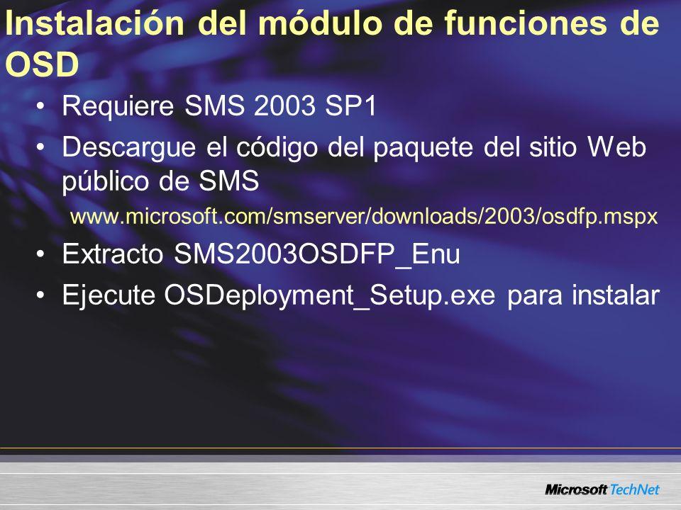 Instalación del módulo de funciones de OSD