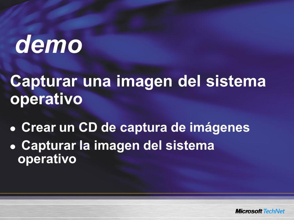 demo Capturar una imagen del sistema operativo Demo