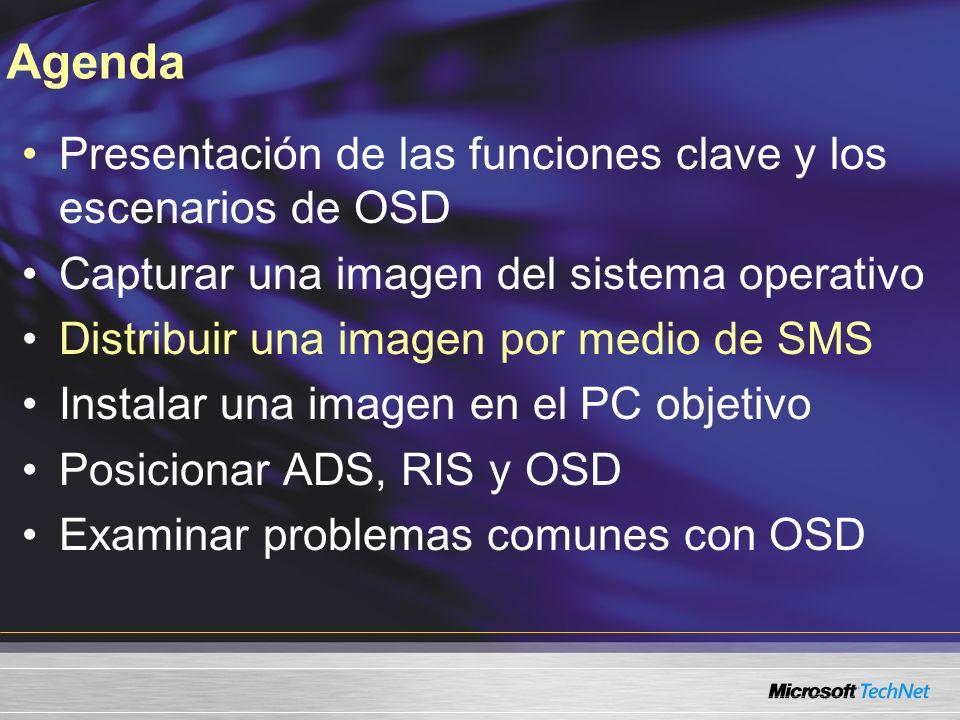 Agenda Presentación de las funciones clave y los escenarios de OSD