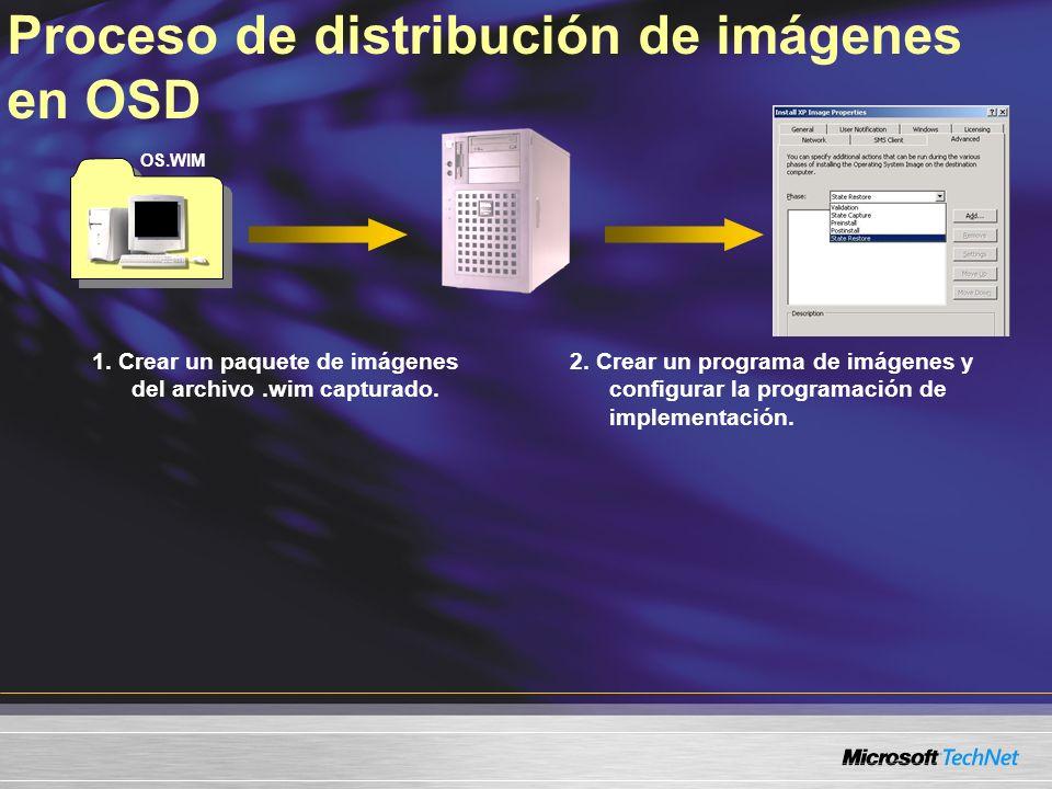 Proceso de distribución de imágenes en OSD